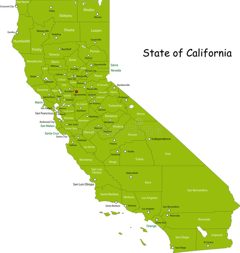 Carte de la Californie