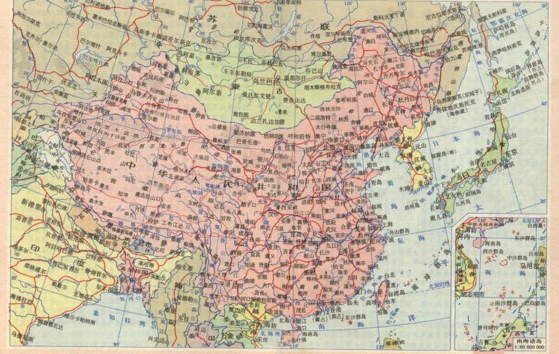 Carte de la Chine images libres de droits