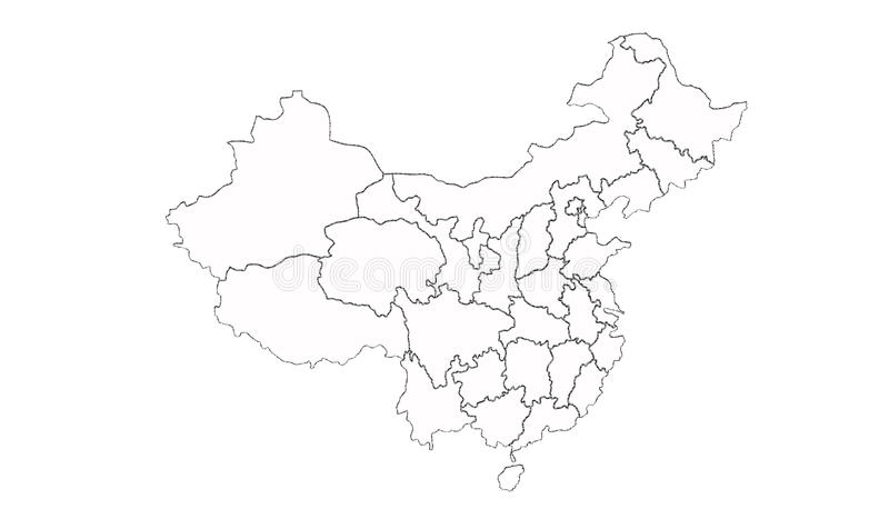 Carte de la Chine illustration libre de droits