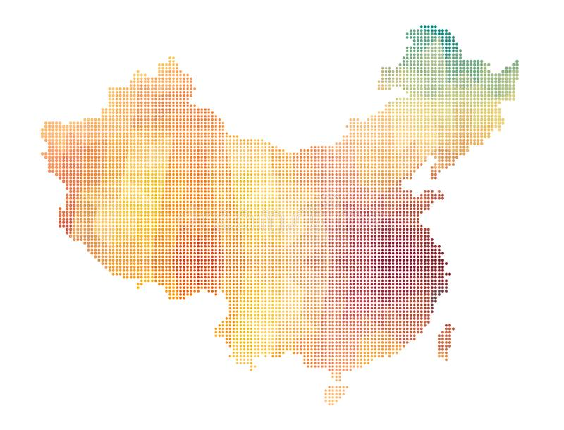Carte de la Chine de style polygonal illustration stock