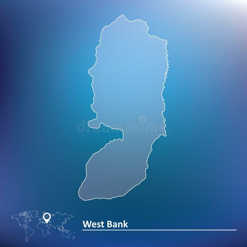 Carte de la Cisjordanie illustration stock
