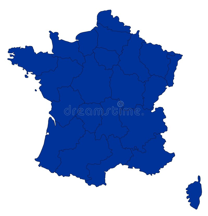 Carte de la France illustration libre de droits