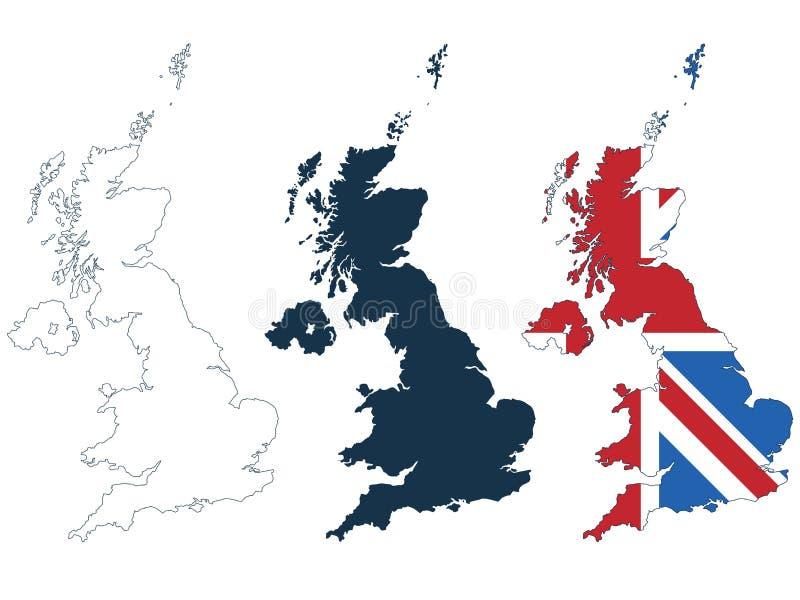 Carte de la Grande-Bretagne illustration libre de droits