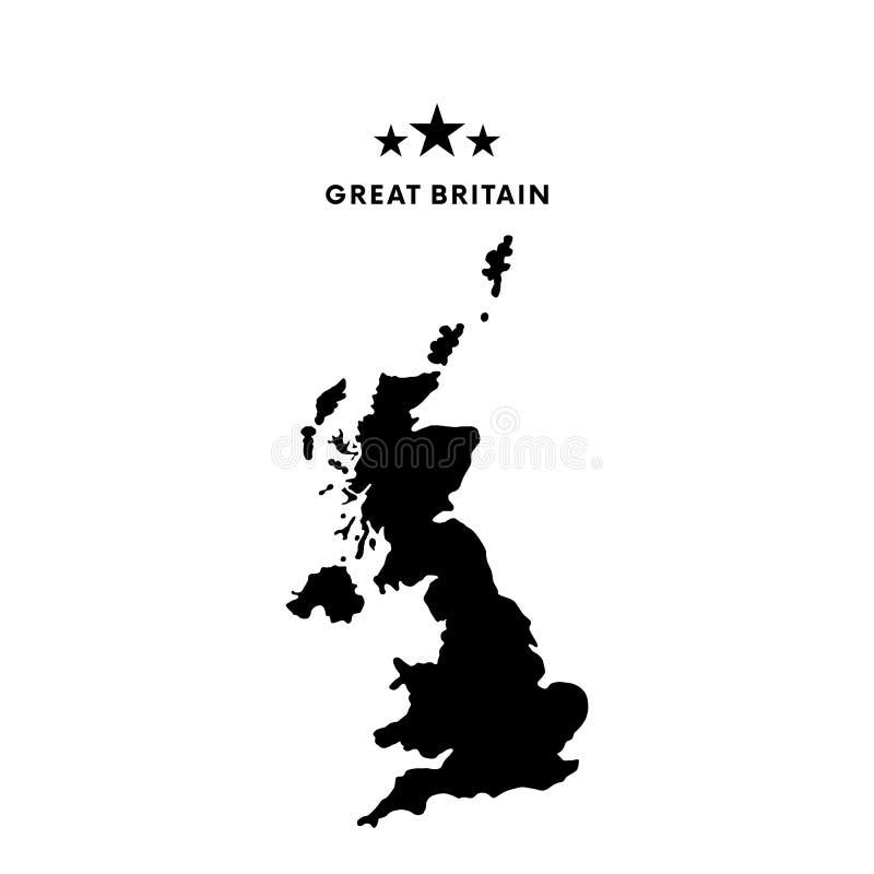 Carte de la Grande-Bretagne Illustration de vecteur illustration libre de droits