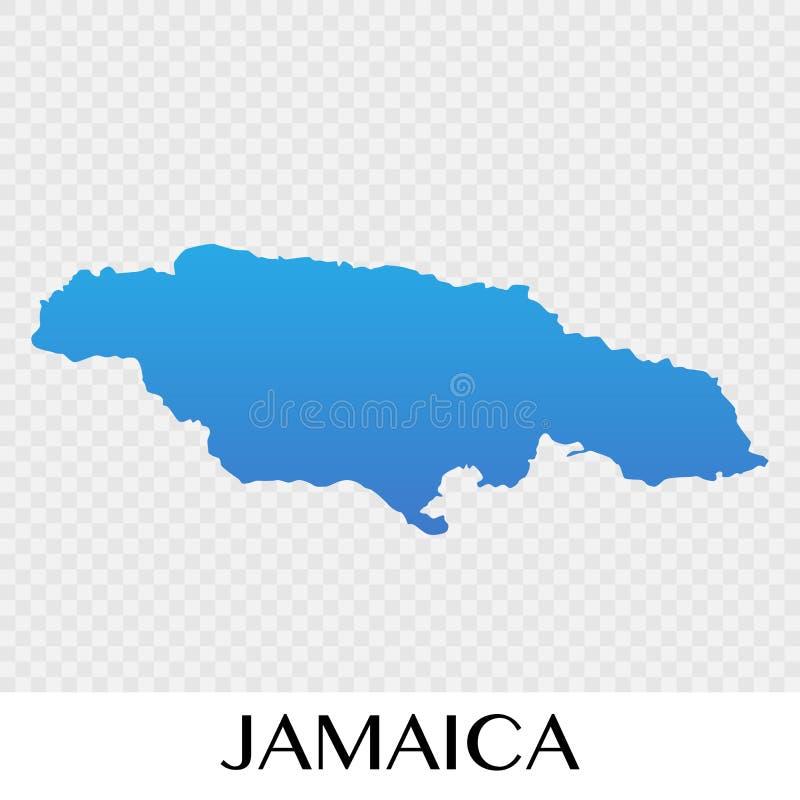 Carte de la Jamaïque dans la conception continente d'illustration de l'Amérique du Nord illustration de vecteur