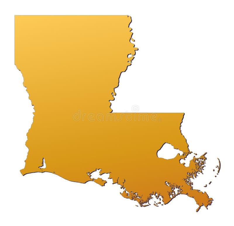 Carte de la Louisiane (Etats-Unis) illustration de vecteur