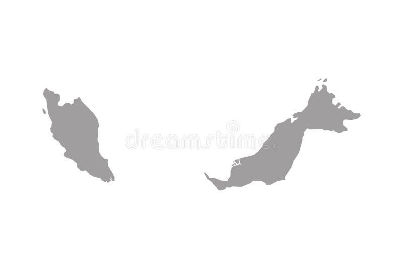 Carte de la Malaisie illustration de vecteur