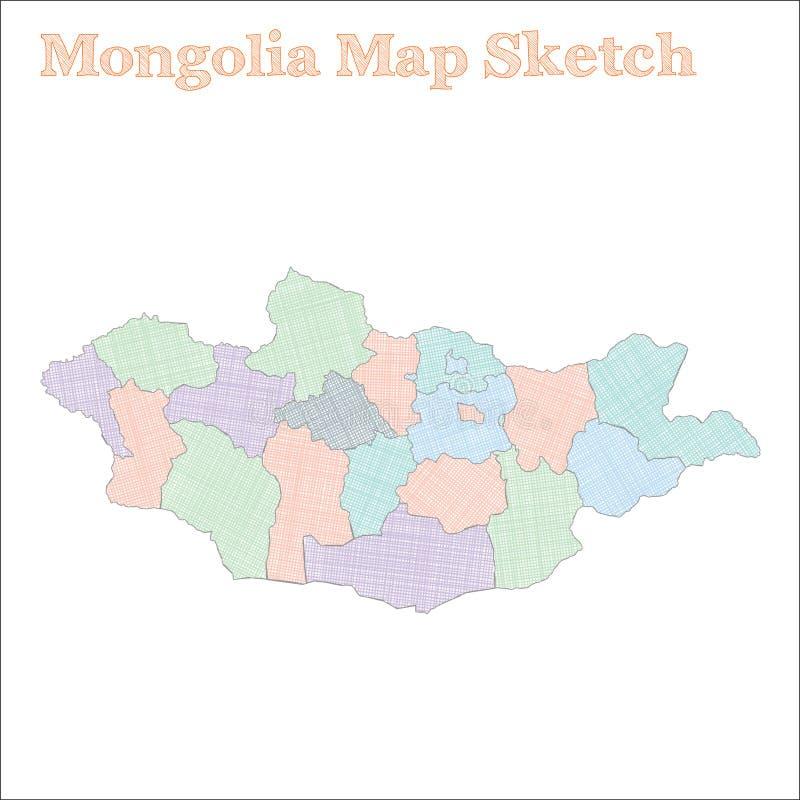 Carte de la Mongolie illustration stock