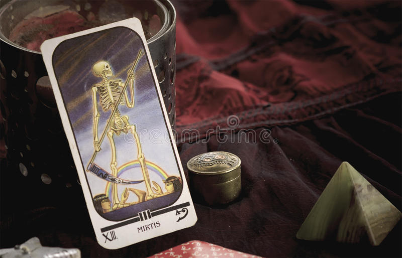 Carte de la mort de tarot images stock