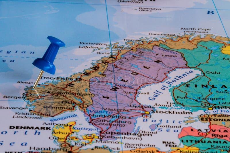 Carte de la Norvège photographie stock libre de droits