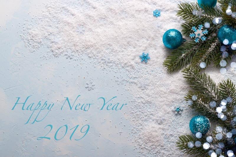 Carte de la nouvelle année 2019 image libre de droits