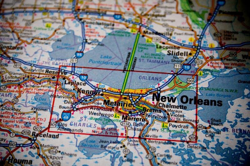 Carte de la Nouvelle-Orléans image libre de droits
