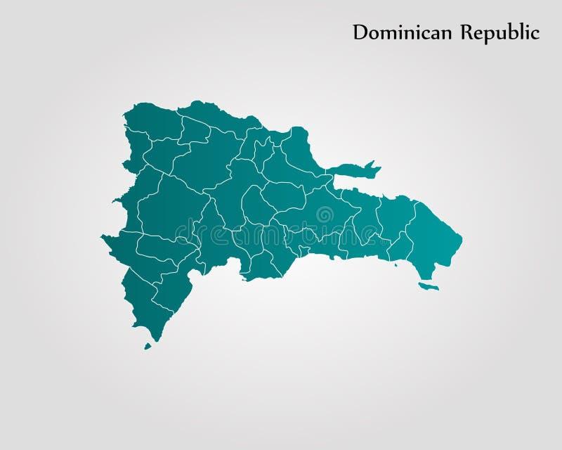 Carte de la république dominicaine illustration libre de droits