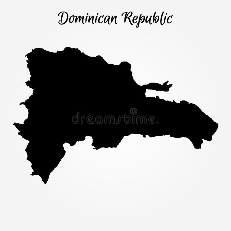 Carte de la république dominicaine illustration stock