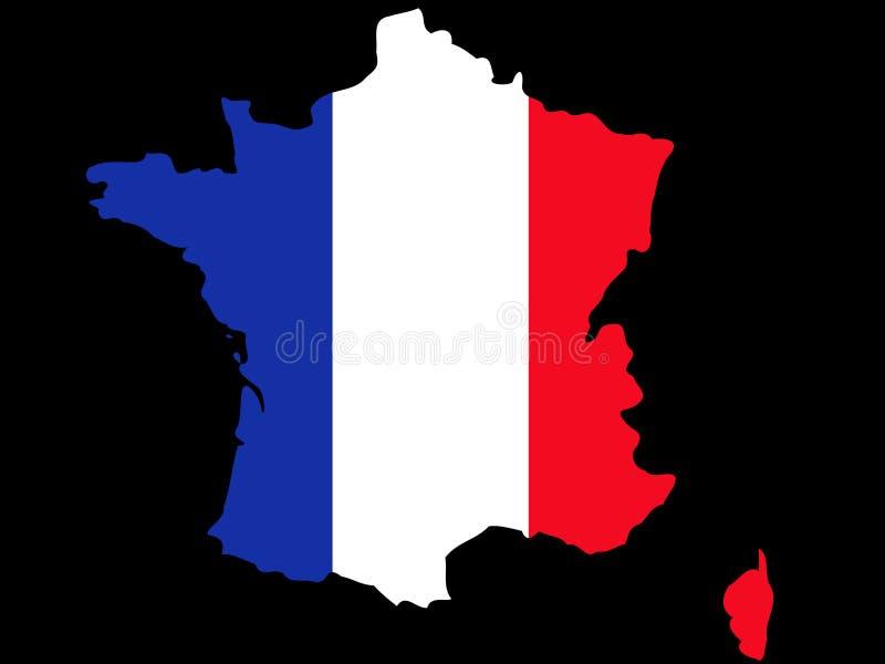 Carte de la République française illustration stock
