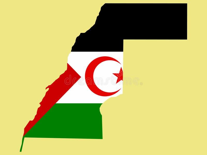 Carte de la Sahara occidental illustration stock