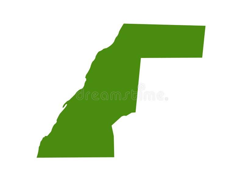 Carte De Lafrique Maghreb.Carte De La Sahara Occidental Territoire Conteste Dans La
