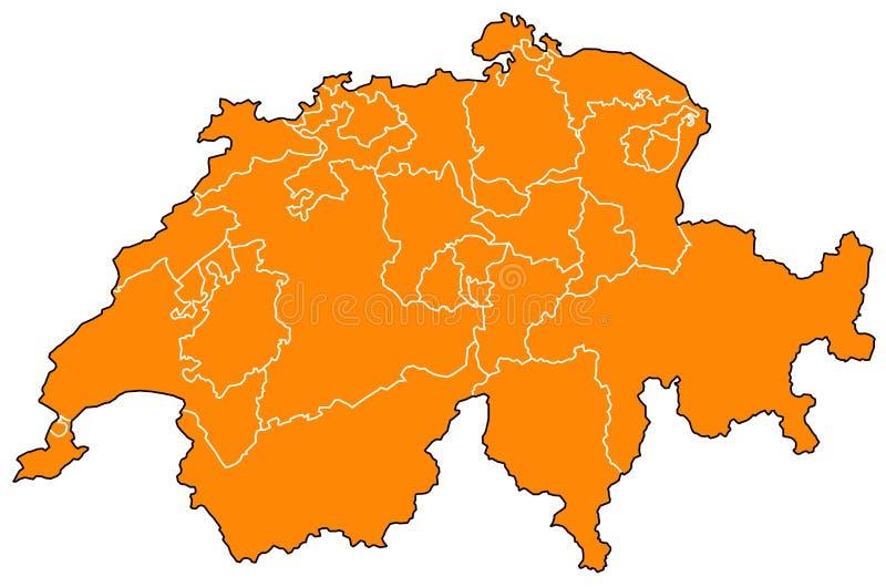 Carte de la Suisse illustration libre de droits
