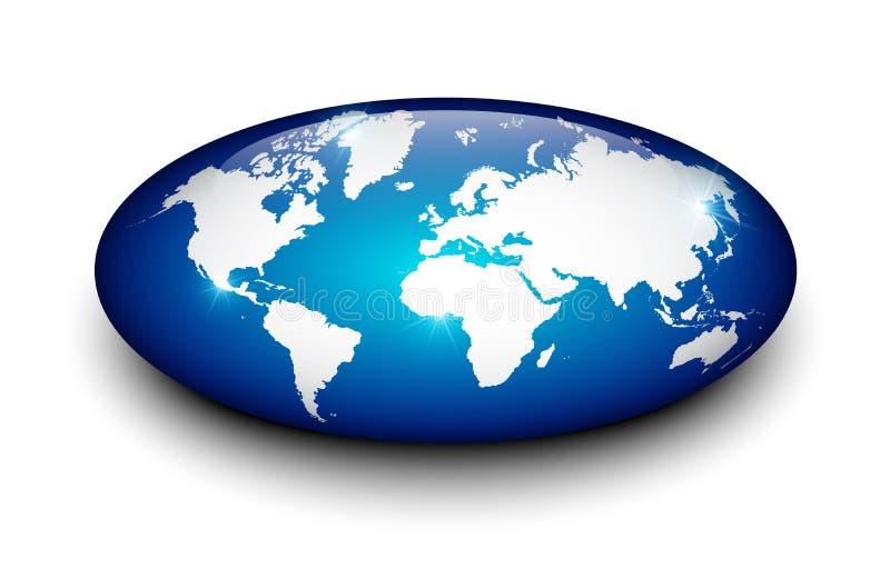 Carte de la terre sur le marbre D'isolement illustration libre de droits