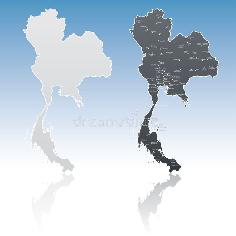 Carte de la Thaïlande images libres de droits