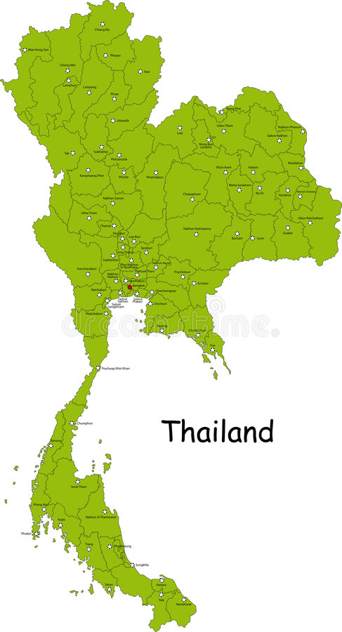 Carte de la Thaïlande illustration stock