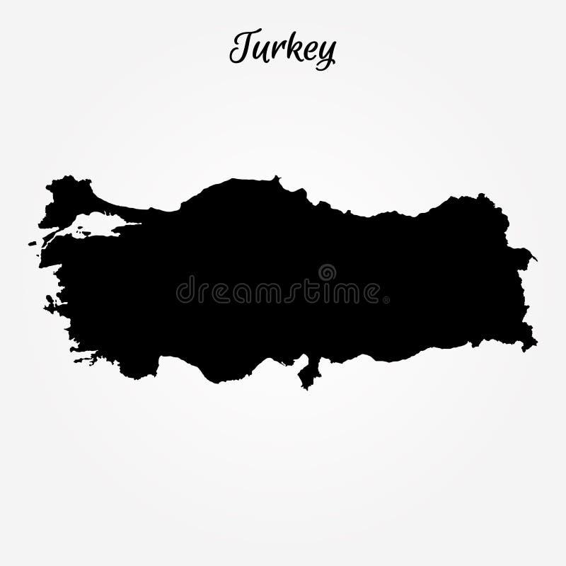 Carte de la Turquie illustration libre de droits