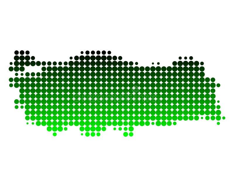 Carte de la Turquie illustration de vecteur