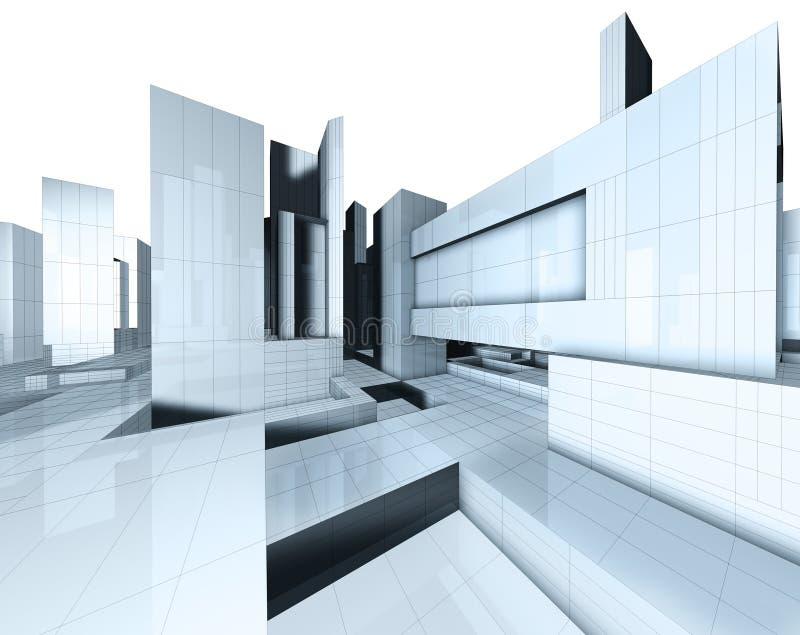 carte de la ville 3d illustration de vecteur