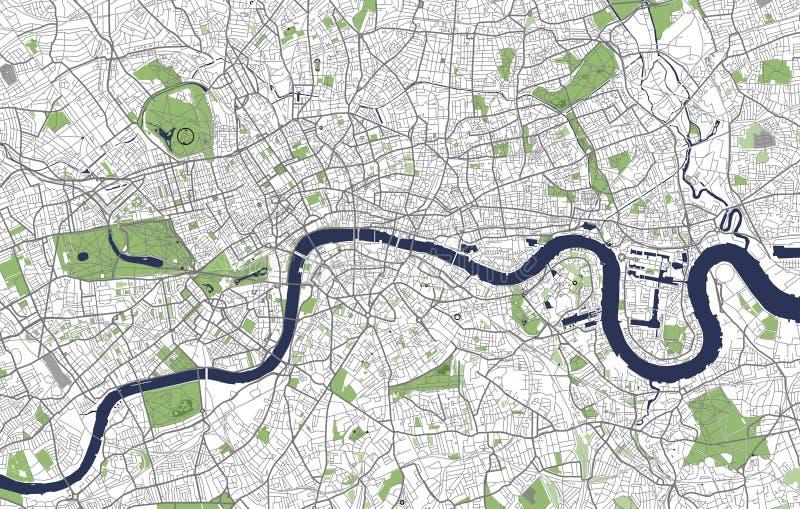Carte de la ville de Londres, Grande-Bretagne illustration libre de droits