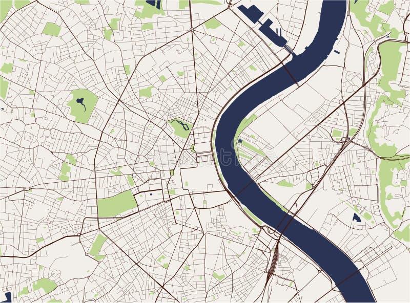 Carte de la ville du Bordeaux, France illustration stock
