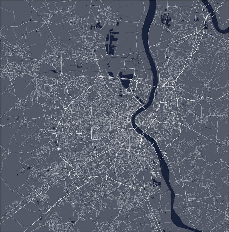 Carte de la ville du Bordeaux, France illustration de vecteur