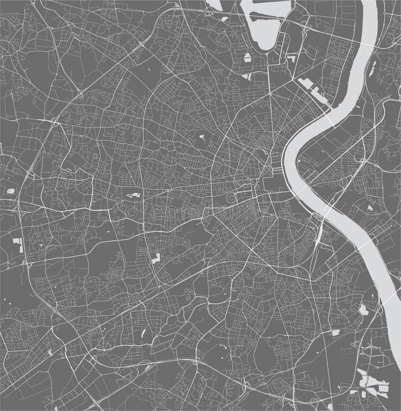 Carte de la ville du Bordeaux, France illustration libre de droits