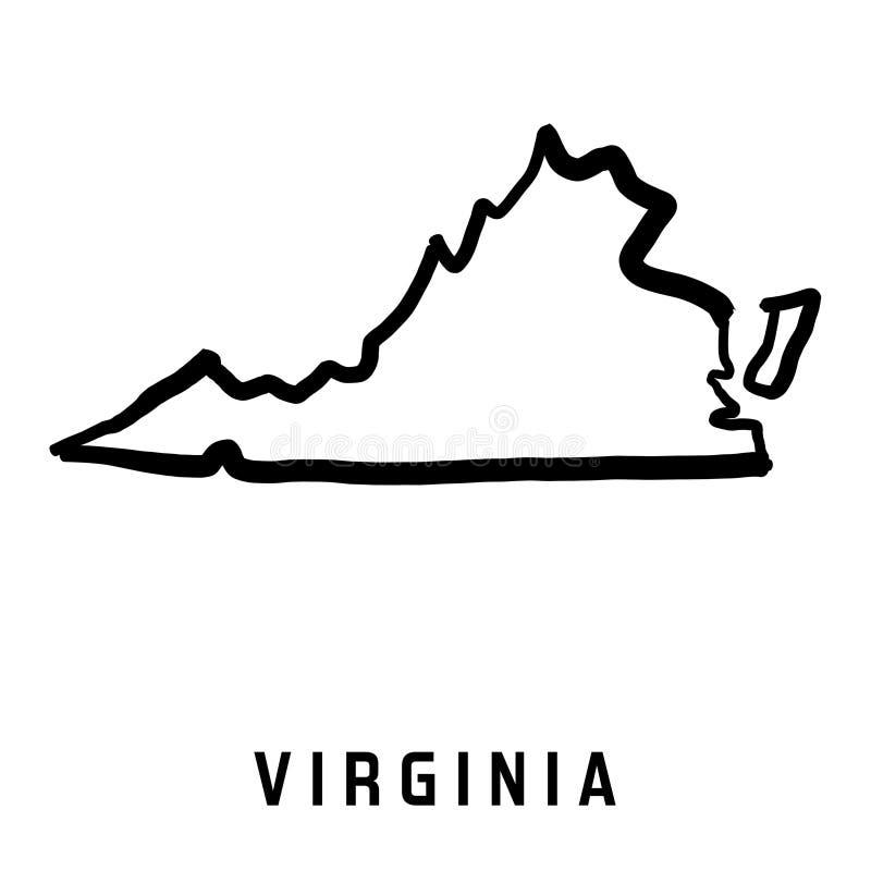 Carte de la Virginie illustration libre de droits