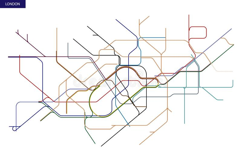 carte de Métro de Londres illustration libre de droits