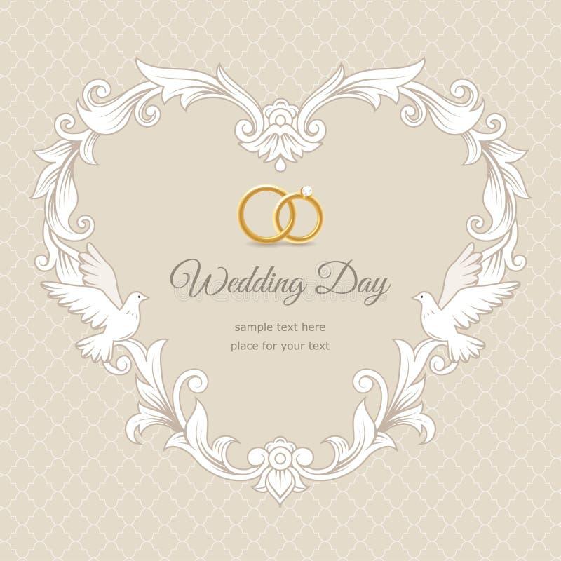 Carte de mariage illustration stock