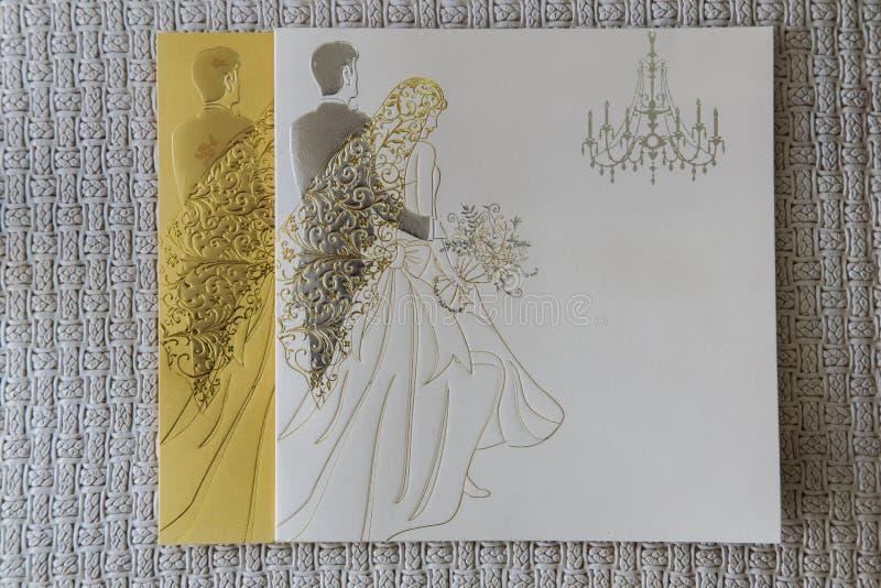 Carte de mariage photographie stock