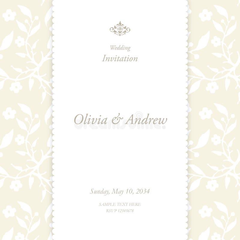 Carte de mariage avec l'espace de copie illustration de vecteur