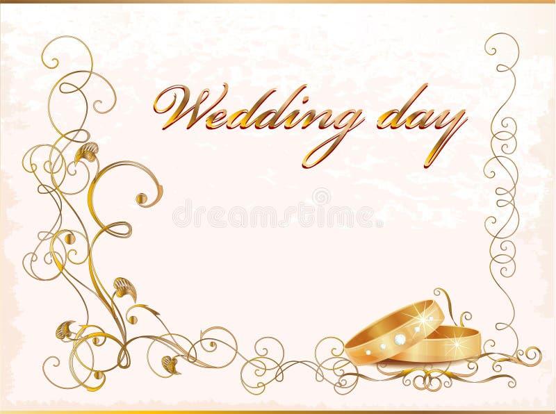Carte de mariage de cru illustration de vecteur