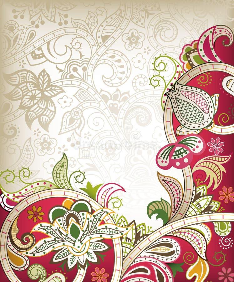 Carte de mariage de l'Asie illustration de vecteur