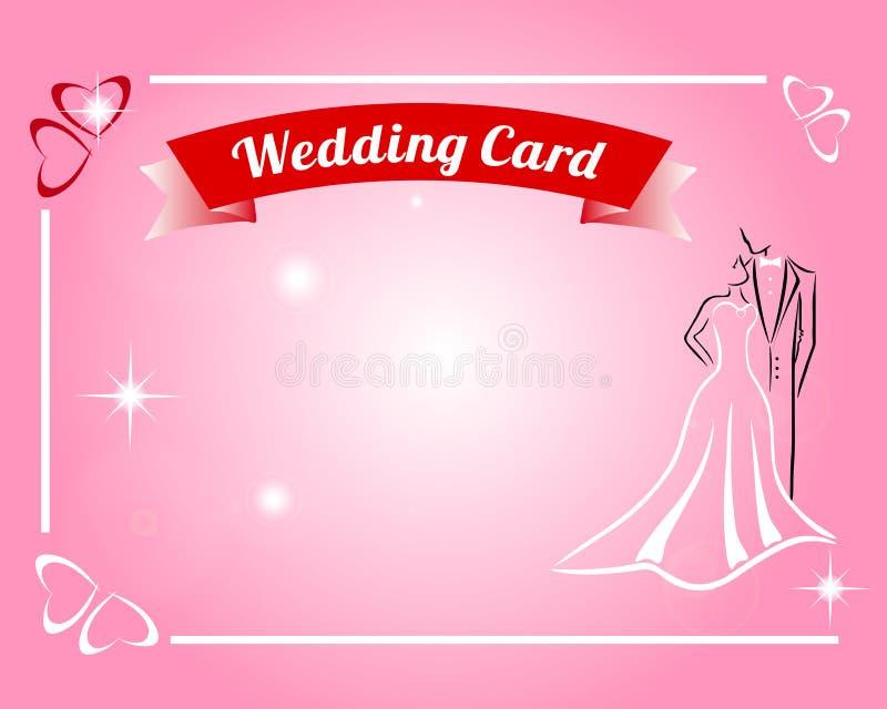 Carte de mariage rose illustration stock