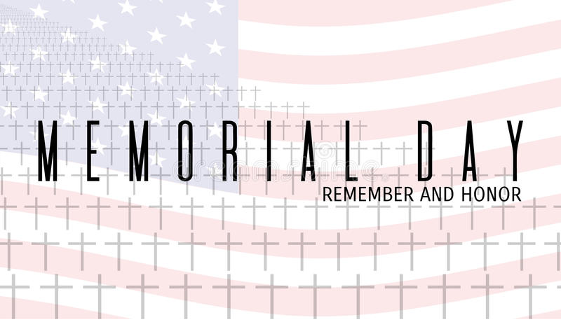 Carte de Memorial Day illustration de vecteur