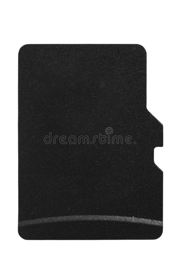 Carte de MicroSD d'isolement sur le blanc photo libre de droits