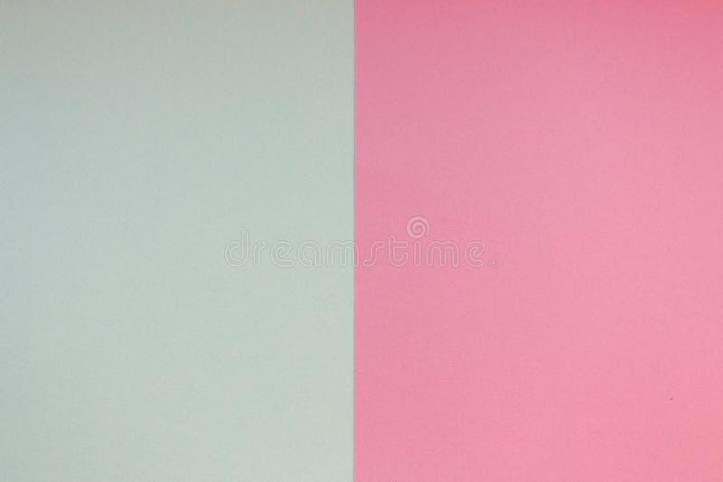 Carte de modèle rose et bleu-clair Carton de couleur en pastel Papier peint coloré avec l'espace de copie Fond graphique géométri photographie stock