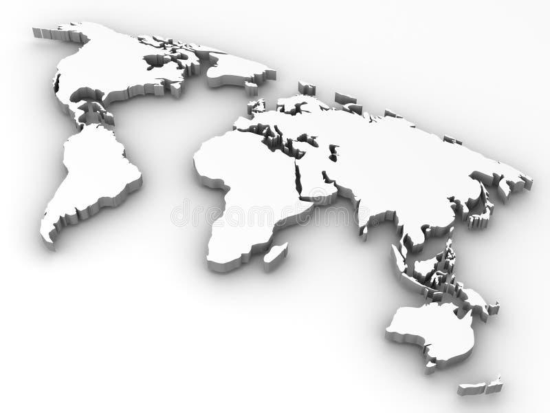 Carte De Monde. Photos libres de droits
