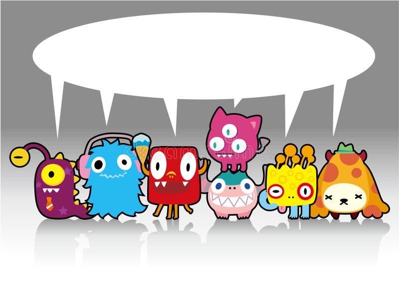 Carte de monstre de dessin animé illustration stock