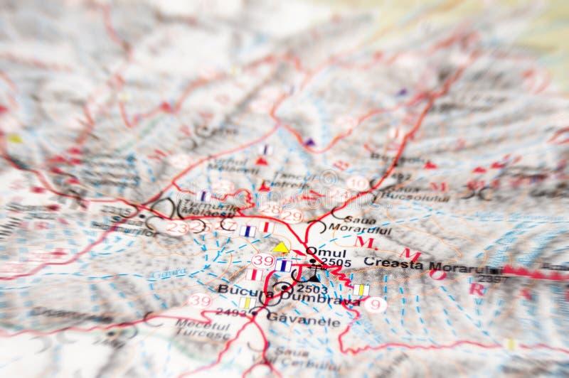 Carte de montagne images libres de droits