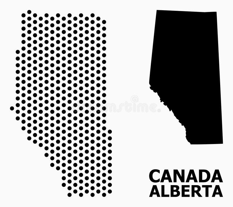 Carte de mosaïque de pixel d'Alberta Province illustration libre de droits