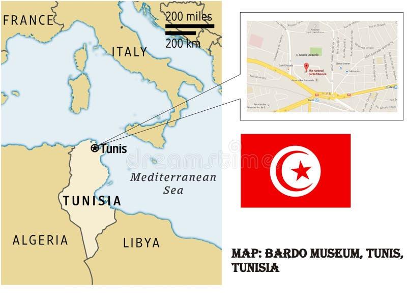 Carte de musée Tunis Tunisie de Bardo photos libres de droits