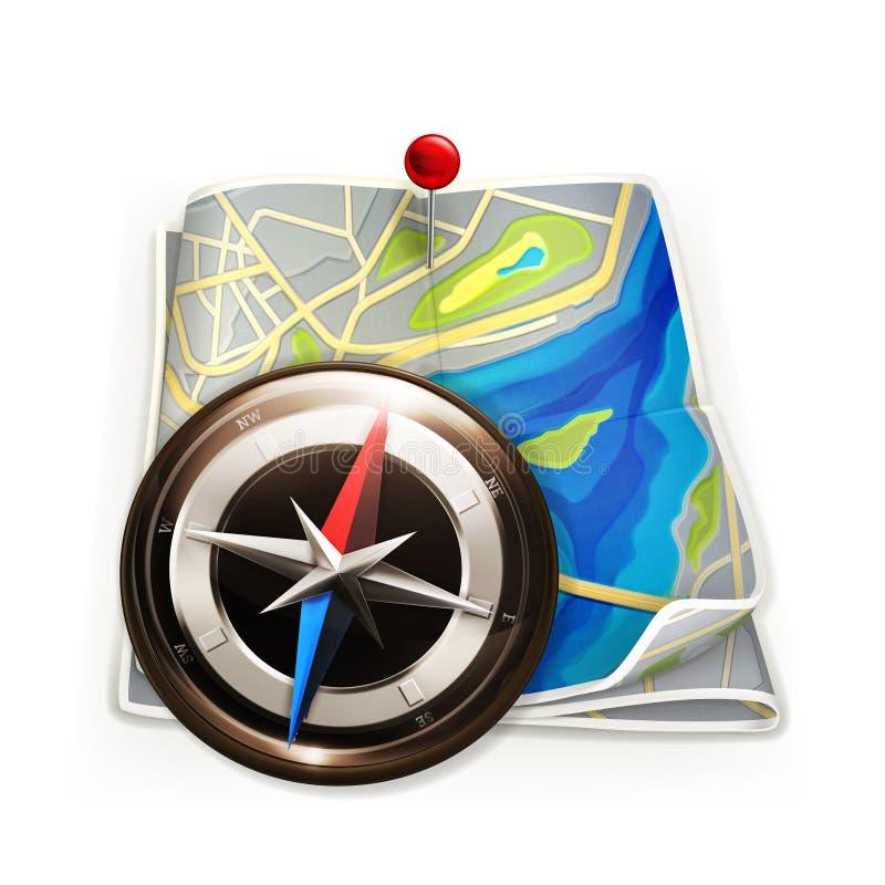 Carte de navigation illustration de vecteur