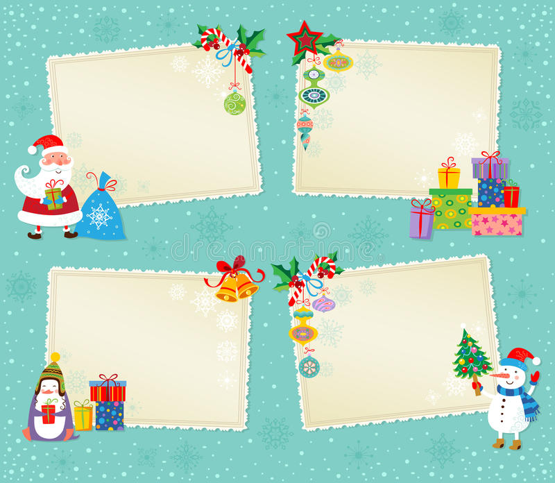 Carte de Noël. illustration stock